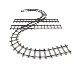 Currency unit in the form of railway rails