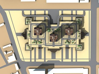 The master plan of apartment buildings