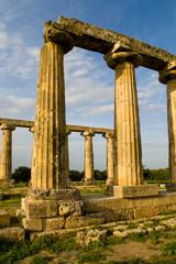 Antica Grecia , area archeologica Metaponto , Italia