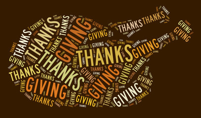 Thankgiving day turkey graphic illustration