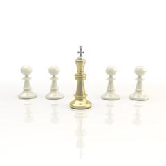 Leadership: light chess background