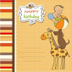 funny cartoon birthday greeting card