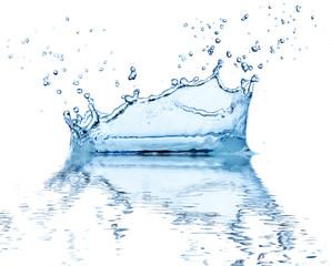 Water splash, isolated on white background