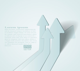 abstract vector 3D arrows background
