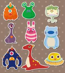 Poster de jardin Creatures monster stickers