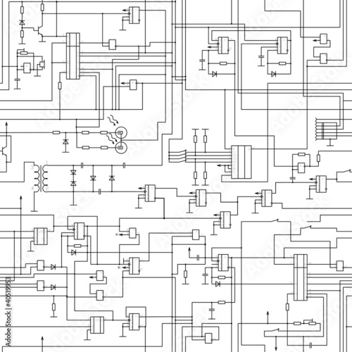 vector seamless electrical circuit diagram pattern stock image and rh fotolia com Examples of Simple Electrical Circuits Examples of Simple Electrical Circuits