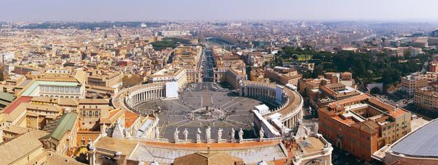 Saint Peter's Square, Vatican, Rome, panoramic photo