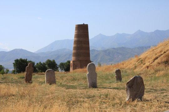 Burana tower and standing stones