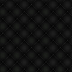 Foto op Canvas Leder Polsterung schwarz, nahtlos kachelbar
