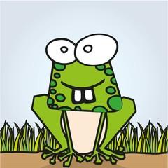 Frog with big teeth