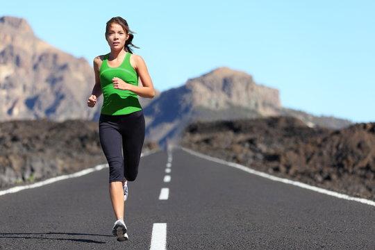 Runner woman running