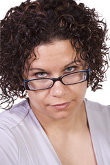 Close up on a Hispanic Woman