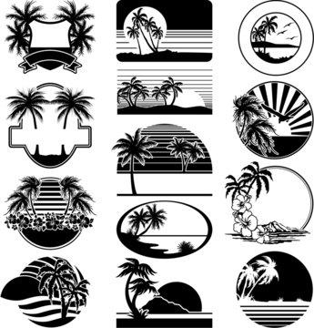 Black and white beaches