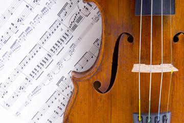 Fototapeta szrzypce i nuty obraz