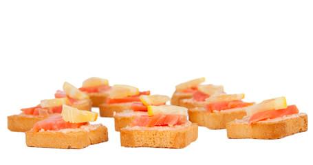 Crostinis with smoked salmon