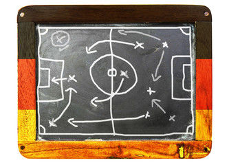 a grungy soccer tactic board, poland 2012, germany