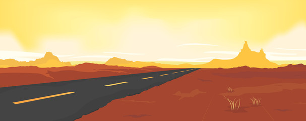Summer Desert Road