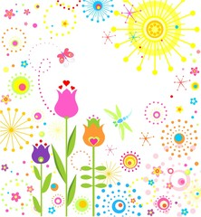 Summer abstract card