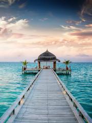 Papiers peints Jetee Sunset / Sunrise Jetty at Maldives / Malediven