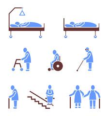 Senioren Icon Sign Symbol Pictogram