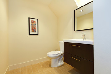 Wall Mural - Simple new modern bathroom.