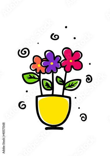 Pot Des Fleurs Stock Image And Royalty Free Vector Files On Fotolia
