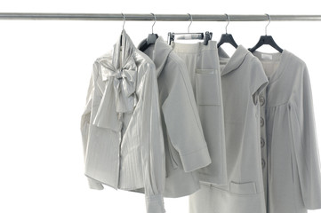 Clothing hanger with at the show