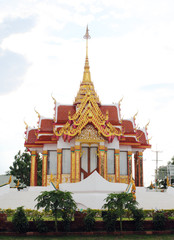 A mondop is a square, open-sided pavilion with a multi-tiered py