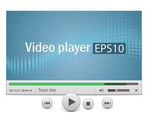 Video player with icons