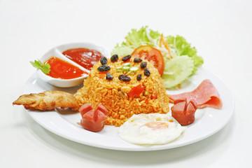american rice fried thai food