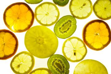 Tuinposter Plakjes fruit Obst