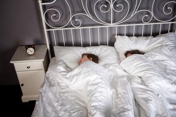 Siblings in bed