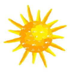 Sun painted