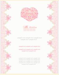 romantic vintage invitation