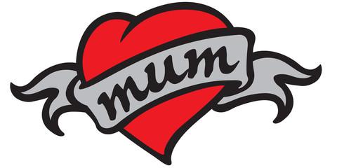 Love Mum Tattoo