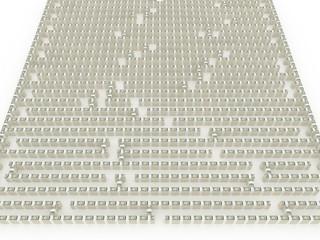 maze of stacks of dollars