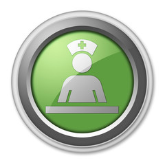 """Green 3D Style Button """"Care Staff Area"""""""