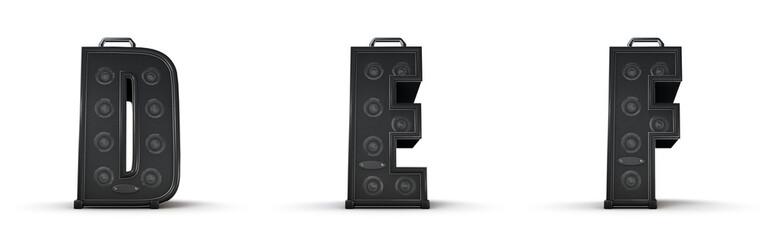 Sticker - Amplifier alphabet D E F