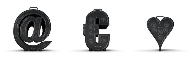 Sticker - Amplifier alphabet email euro heart