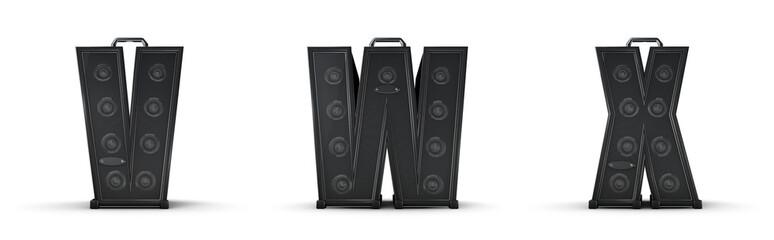 Amplifier alphabet V W X