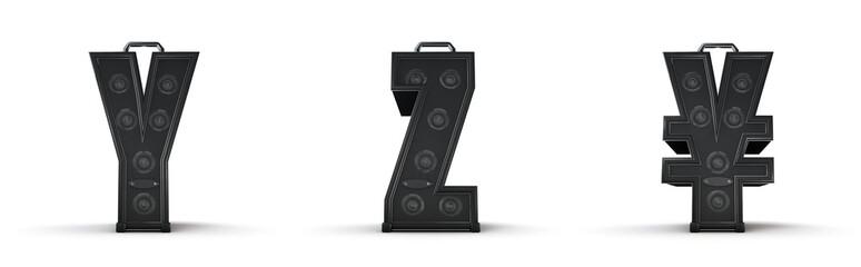 Sticker - Amplifier alphabet Y Z yen