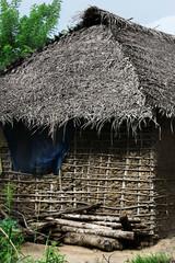 A very poor small cottage on the beach on Zanzibar.