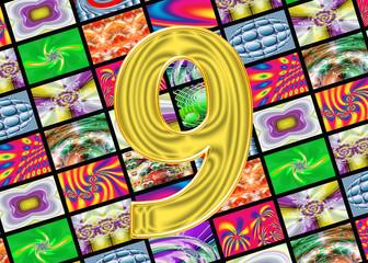 Телевидение и интернет технологии. Цифра девять.