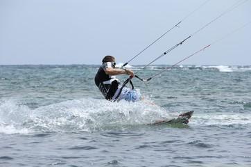 Kite surf - En action