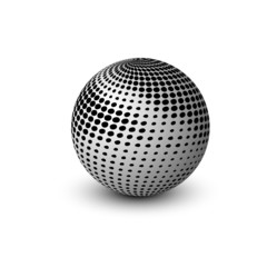 new 3d glossy sphere vector design
