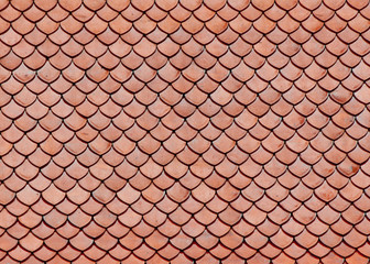 Roof tiles of classic Buddhist temple