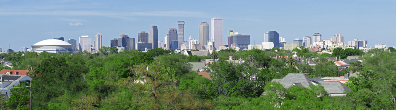 New Orleans Skyline Panorama