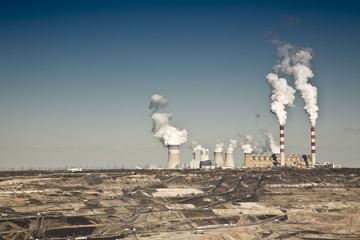 Fototapeta coal powerplant view obraz