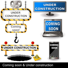 Coming soon and under construction