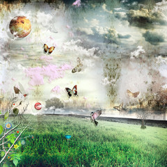 Canvas Prints Imagination Field of miracles